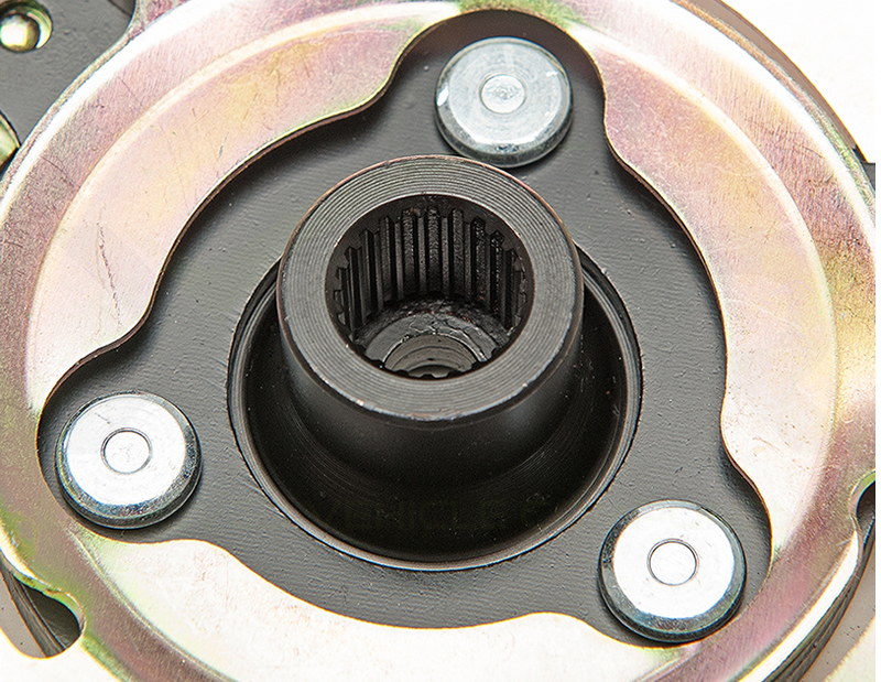 no cold air caused by sheared spindle on shear hub plate disc