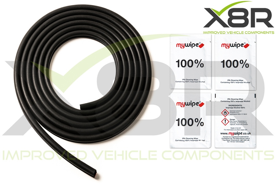 comlplete kit door seal trim rubber new